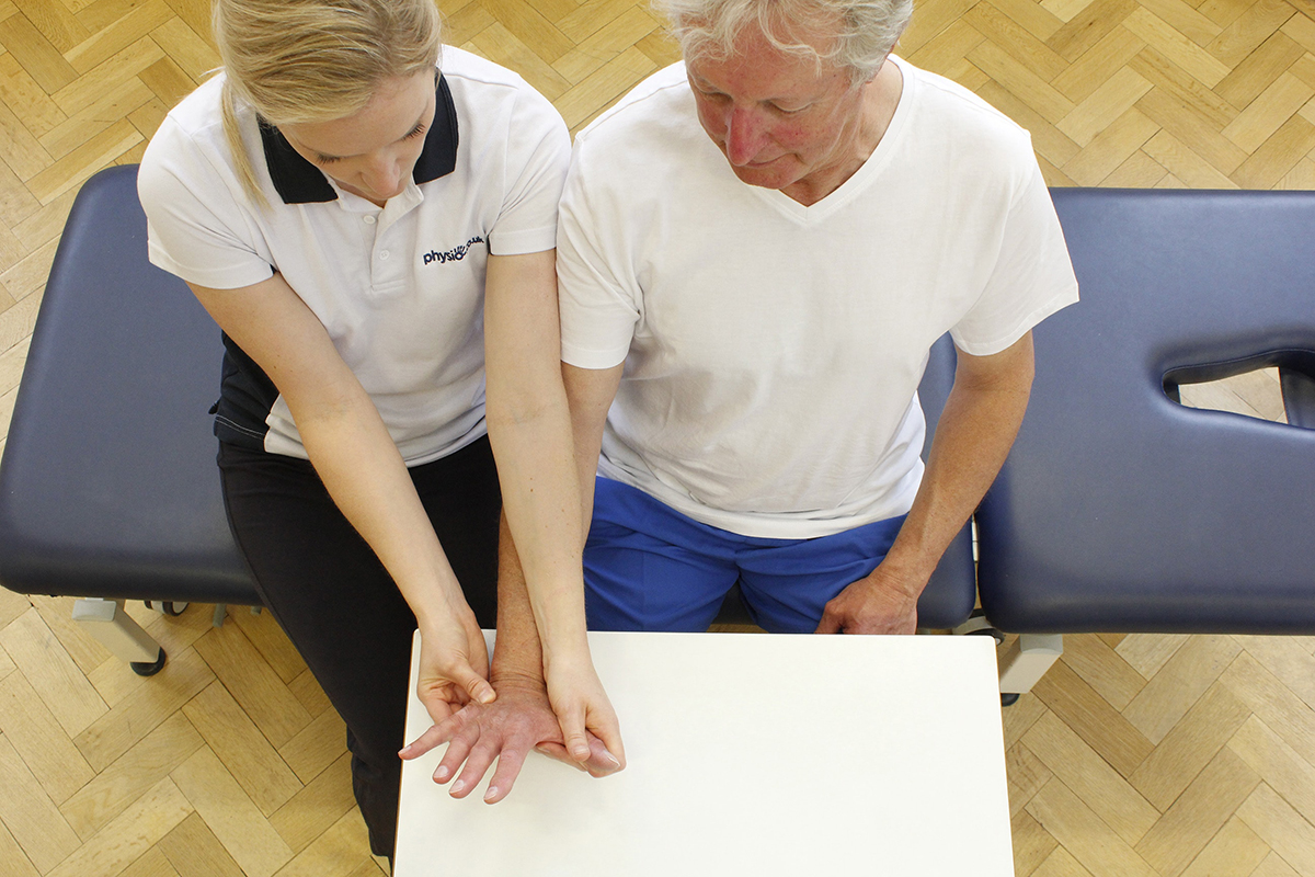 Hand therapy treatment with Manchester Neuro Physio