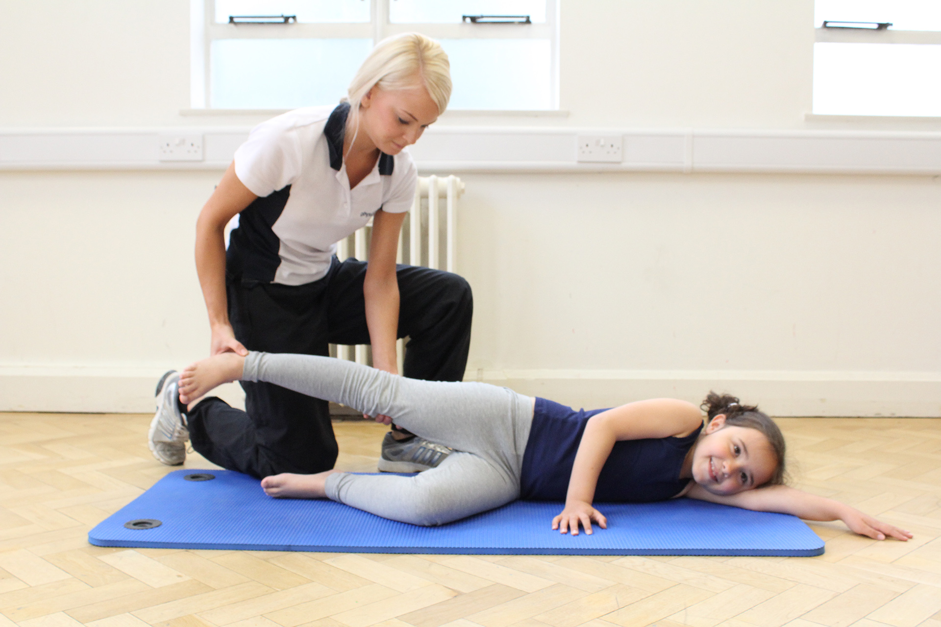 Child therapy session in Manchester Physio Clinic